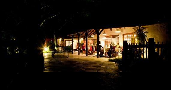 Dining at night at Okahandja Country Hotel