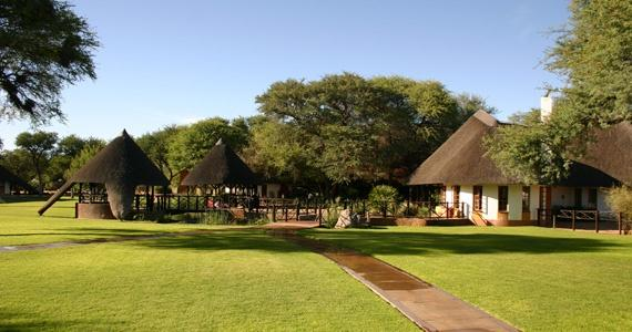 The wonderful green garden of Okahandja Country Hotel